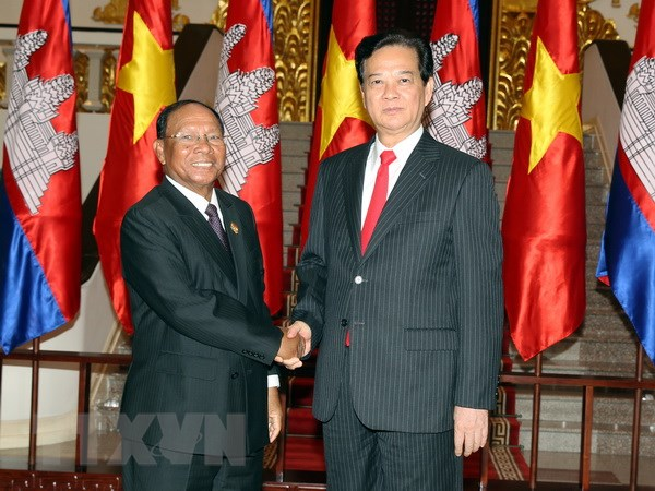 Viet Nam-Campuchia tiep tuc dua quan he hai nuoc phat trien hinh anh 1