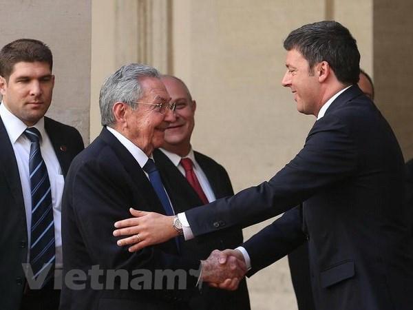Chu tich Cuba Raul Castro: Quan he Cuba-Italy la hoan hao hinh anh 1