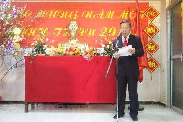 Cong dong nguoi Viet Nam tai Algeria don Xuan Binh Than 2016 hinh anh 1