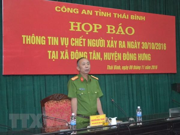 Thong tin them ve vu chet nguoi o xa Dong Tan, tinh Thai Binh hinh anh 1