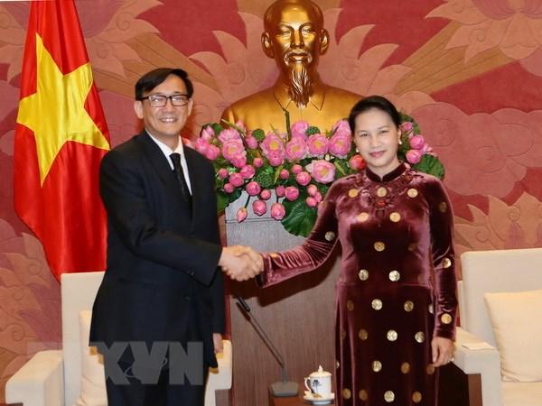 Chu tich Quoc hoi tiep Dai su Nhat Ban va Dai su Thai Lan hinh anh 2