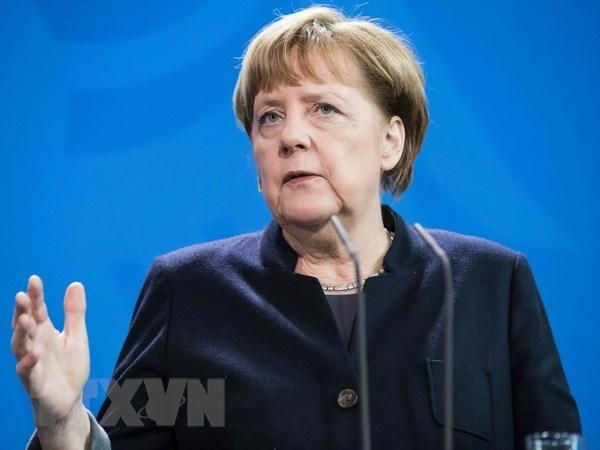 Thu tuong Duc Merkel den Tunisia giai quyet van de di cu hinh anh 1
