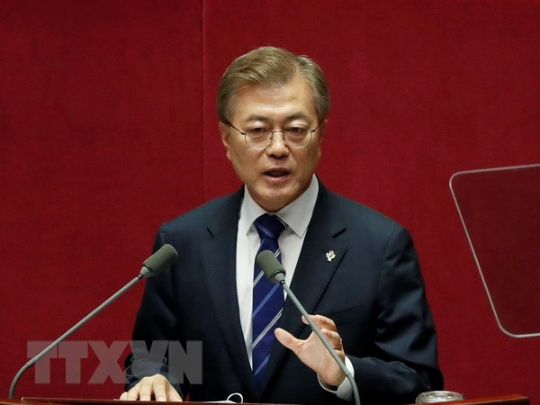 Ong Moon Jae-in san sang dam phan neu Trieu Tien ngung khieu khich hinh anh 1