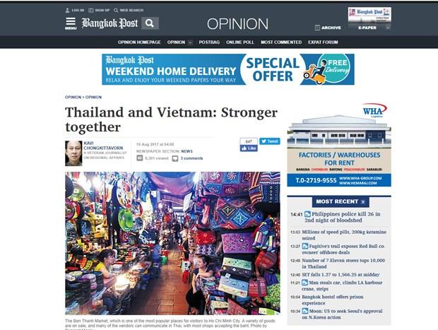 Bao chi Thai Lan danh gia tich cuc trien vong quan he voi Viet Nam hinh anh 1