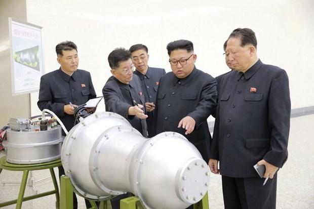 KCNA: Nha lanh dao Trieu Tien kiem tra dau dan ten lua la bom H hinh anh 1