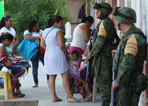 Mexico: Xa sung dam mau o trung tam cai nghien, 14 nguoi thiet mang hinh anh 1
