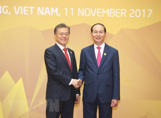 Chu tich nuoc gap lanh dao Lao, Campuchia va Han Quoc hinh anh 3
