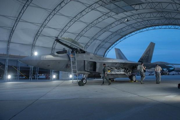 6 tiem kich tang hinh F-22 Raptor cua My toi Han Quoc tap tran hinh anh 1