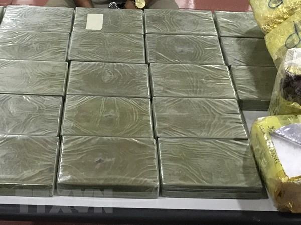 Bat giu doi tuong van chuyen 7,3kg heroin tai tinh Quang Ninh hinh anh 1