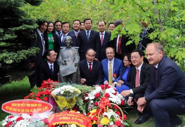 Bi thu Thanh uy TP.HCM Nguyen Thien Nhan du hoi thao tai Nga hinh anh 1