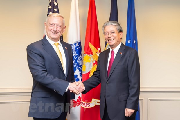 Dai su Viet Nam tai Hoa Ky hoi kien Bo truong Quoc phong James Mattis hinh anh 1