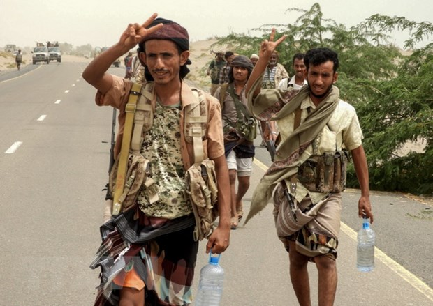 Xung dot tai Yemen: Cac luc luong chinh phu tien gan toi cang Hodeida hinh anh 1