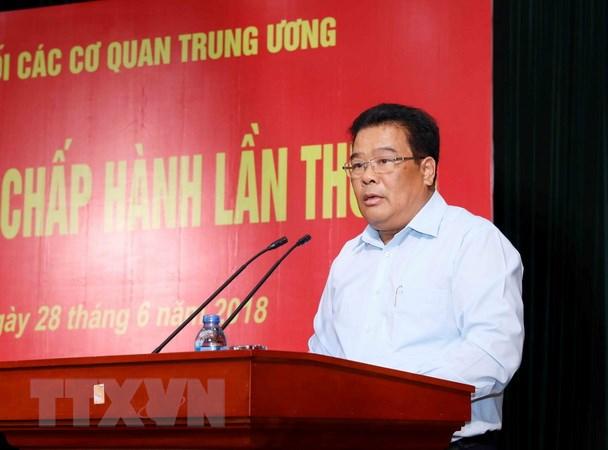 Hoi nghi Ban Chap hanh Dang bo Khoi cac co quan Trung uong lan thu 13 hinh anh 1