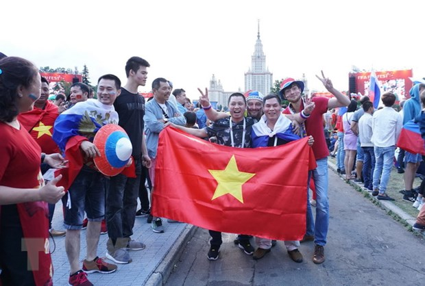 World Cup 2018: Co dong vien Viet Nam khuay dao Fanzone o Moskva hinh anh 1