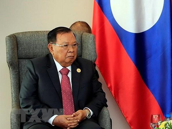Tong Bi thu Lao tiep doan dai bieu cap cao Dang Cong san Viet Nam hinh anh 1