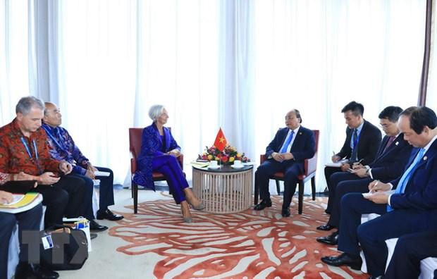 Thu tuong Nguyen Xuan Phuc tiep Tong Giam doc IMF Christine Lagarde hinh anh 1