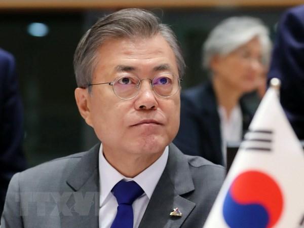 Tong thong Han Quoc Moon Jae-in tham Papua New Guinea du APEC hinh anh 1