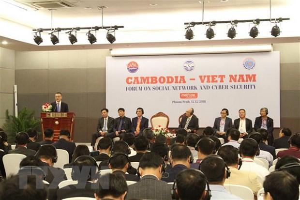 Campuchia-Viet Nam tang cuong hop tac mang xa hoi, an toan thong tin hinh anh 1
