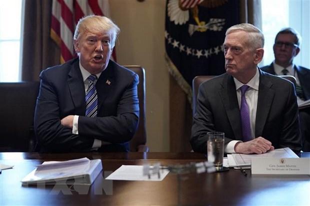 Phan ung cua ong Trump ve su tu chuc cua Bo truong Quoc phong Mattis hinh anh 1