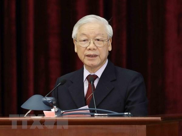 Thong bao Hoi nghi lan 9 Ban Chap hanh Trung uong Dang Khoa XII hinh anh 1