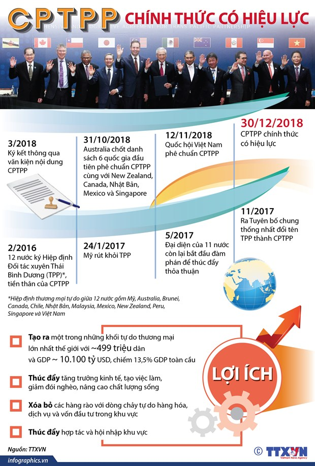 [Infographics] Hiep dinh CPTPP chinh thuc co hieu luc tu hom nay hinh anh 1