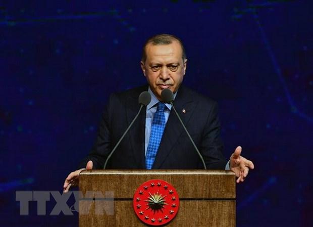 Tong thong Erdogan: My khong hoan rut quan do vu khung bo o Manbij hinh anh 1