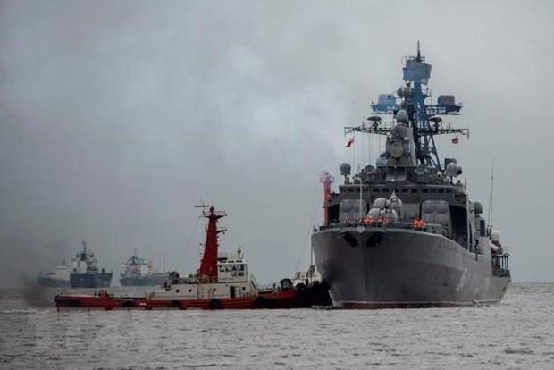 Nga va Trung Quoc tap tran chung tren bien mang ten Joint Sea-2019 hinh anh 1