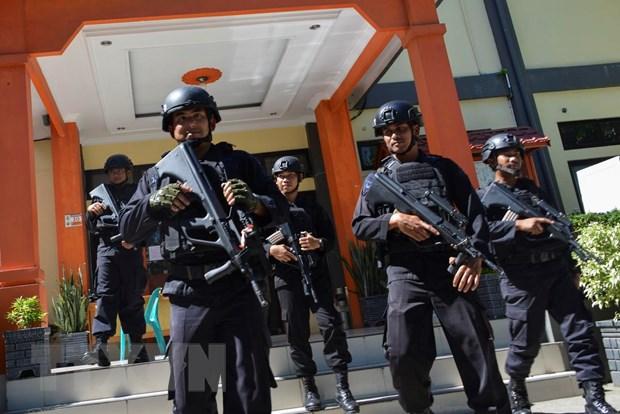 Indonesia tang cuong an ninh truoc them cong bo ket qua bau cu hinh anh 1
