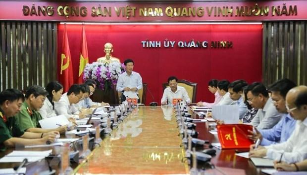 Doan kiem tra cua Bo Chinh tri lam viec tai Quang Ninh hinh anh 1