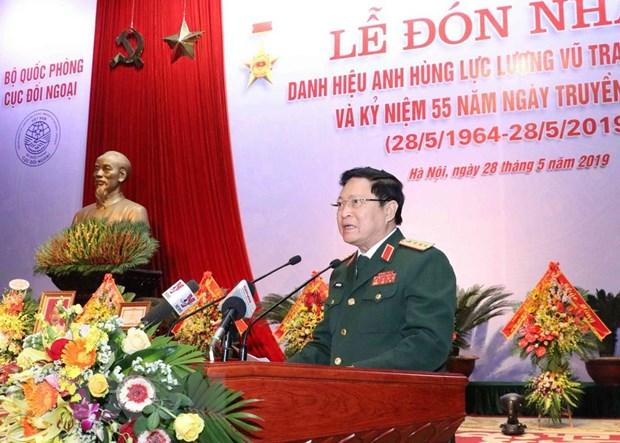 Cuc Doi ngoai Bo Quoc phong nhan danh hieu Anh hung Luc luong vu trang hinh anh 3