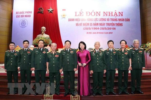 Cuc Doi ngoai Bo Quoc phong nhan danh hieu Anh hung Luc luong vu trang hinh anh 6