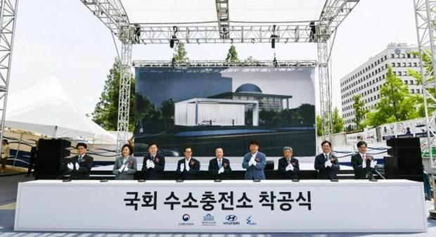 Han Quoc: Hyundai xay tram sac hydro cho xe oto tai toa nha Quoc hoi hinh anh 1