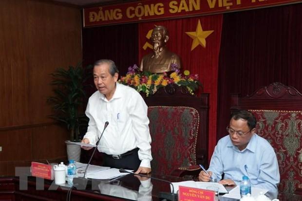 Pho Thu tuong Truong Hoa Binh gap mat lanh dao tinh Bac Kan hinh anh 1