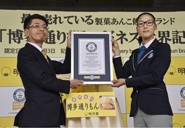 Banh ngot nhan dau o Fukuoka dat ky luc Guinness ve ban chay nhat hinh anh 1