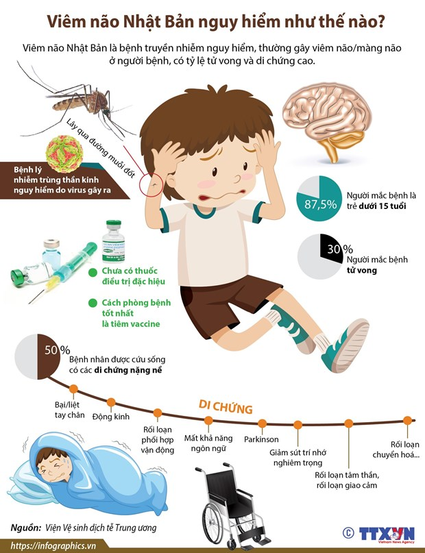 [Infographics] Viem nao Nhat Ban nguy hiem nhu the nao? hinh anh 1