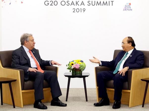 G20: Thu tuong Nguyen Xuan Phuc gap go cac nha lanh dao the gioi hinh anh 3