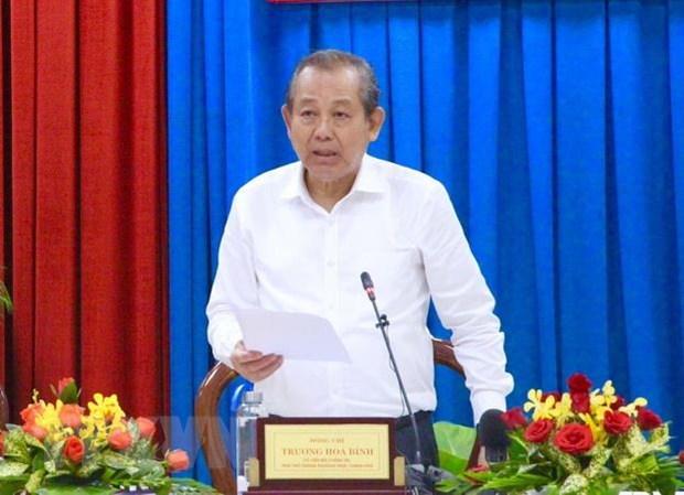 Pho Thu tuong Truong Hoa Binh lam viec o tinh Quang Ninh hinh anh 1