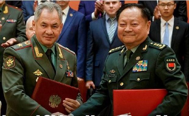 Trung Quoc va Nga cam ket tang cuong hop tac trong linh vuc quan su hinh anh 1