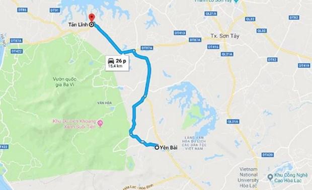 Ha Noi khoi cong du an nang cap duong Tan Linh-Yen Bai hinh anh 1