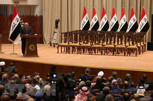 Iraq ban hanh sac lenh cai cach nham xoa diu lan song bieu tinh hinh anh 1