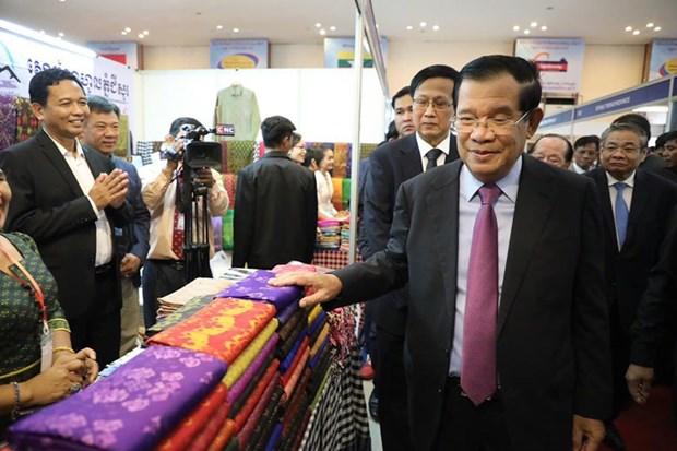 Thu tuong Campuchia chu tri le khanh thanh cho bien Viet Nam-Campuchia hinh anh 1