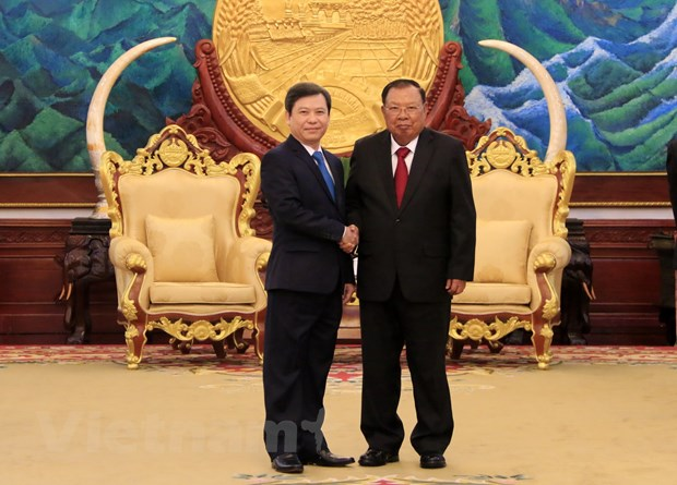 Lanh dao Lao danh gia cao su hop tac giua 2 vien kiem sat Lao-Viet Nam hinh anh 1