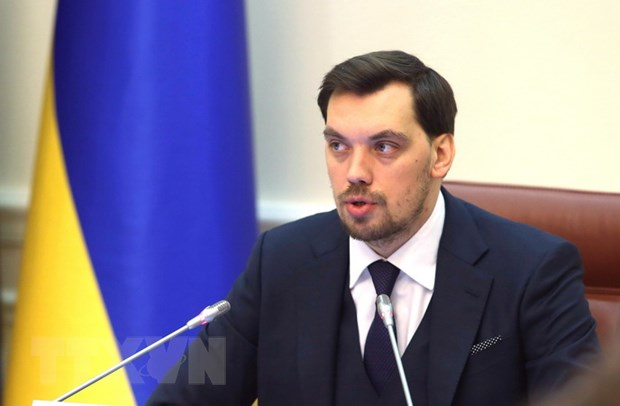 Thu tuong Ukraine Oleksiy Honcharuk bac tin tu chuc hinh anh 1