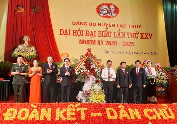 Dai hoi Dang: Huyen Lac Thuy day manh phat trien kinh te-xa hoi hinh anh 1