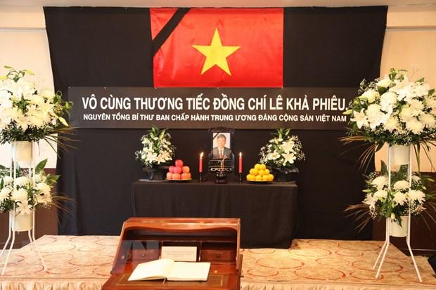 Le vieng nguyen Tong Bi thu Le Kha Phieu tai Malaysia va Nhat Ban hinh anh 1