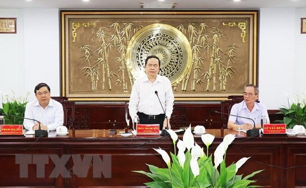 Doan Ban Chi dao TW ve phong, chong tham nhung lam viec tai Bac Lieu hinh anh 1