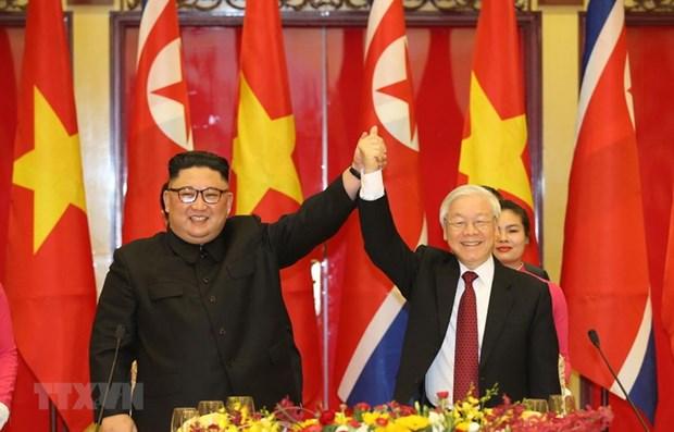 Tong Bi thu Nguyen Phu Trong gui dien mung Tong Bi thu Kim Jong-un hinh anh 1