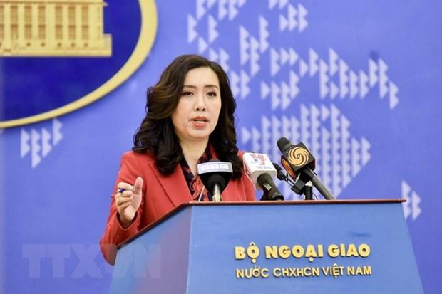 Nguoi Phat ngon Bo Ngoai giao tra loi ve dien bien tren Bien Dong hinh anh 1