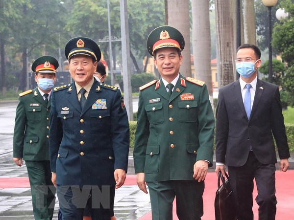 Bo truong Bo Quoc phong Trung Quoc tham chinh thuc Viet Nam hinh anh 1