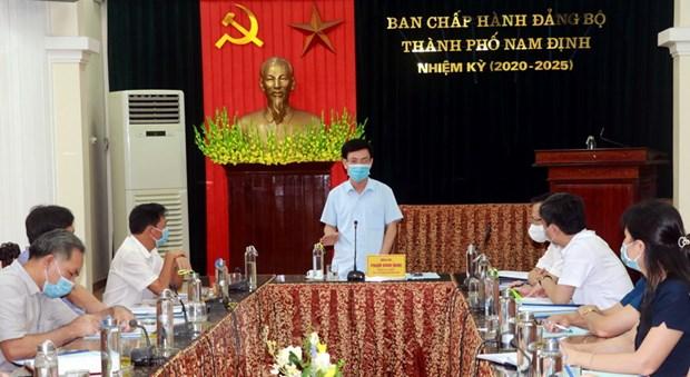Binh Duong va Nam Dinh san sang phuong an chong dich cho Ngay Bau cu hinh anh 1